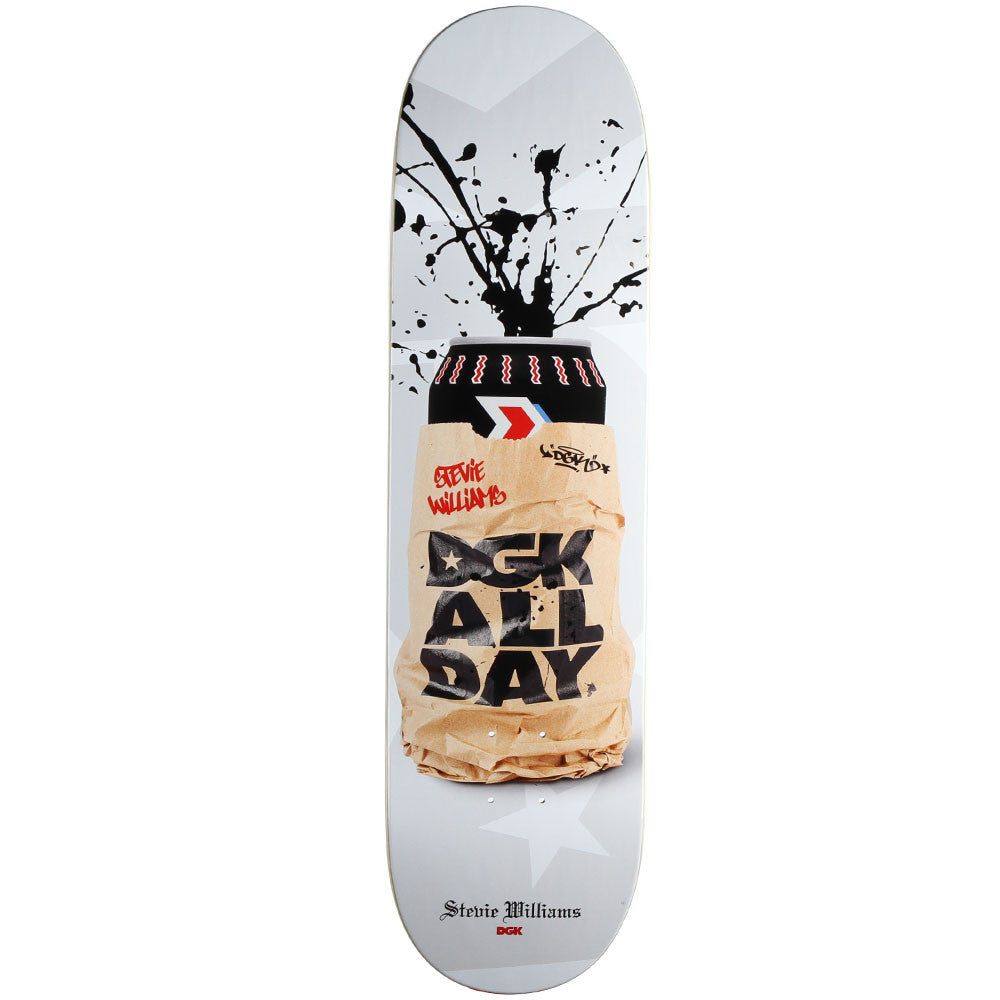 DGK Williams Spray Cans - White - 8.25in - Skateboard Deck