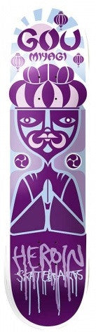 Heroin GM Scatterbrain - Purple - 8.125 - Skateboard Deck