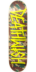 Deathwish Deathspray - 8.125in x 32.0in - Camo/Yellow - Skateboard Deck