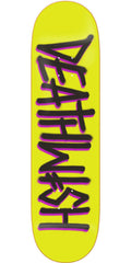 Deathwish Deathspray - 8.125in - Yellow/Black - Skateboard Deck