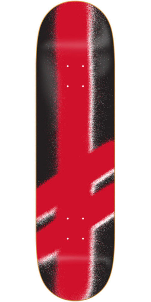 Deathwish Giant Gang Logo - 8.0in - Black/Red - Skateboard Deck