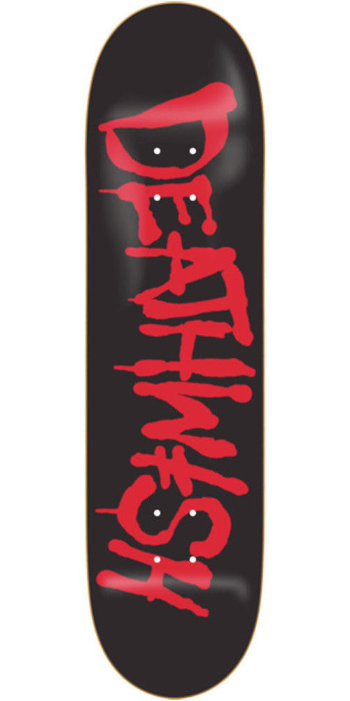 Deathwish Street Spray - 8.25in - Black/Red - Skateboard Deck