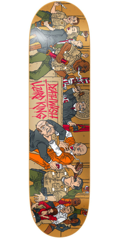 Deathwish Lizard King Public Disservice - 8.12in - Multi - Skateboard Deck