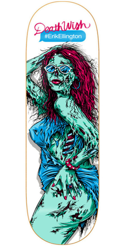 Deathwish Erik Ellington Ratchet Zombie - 8.125in - White - Skateboard Deck