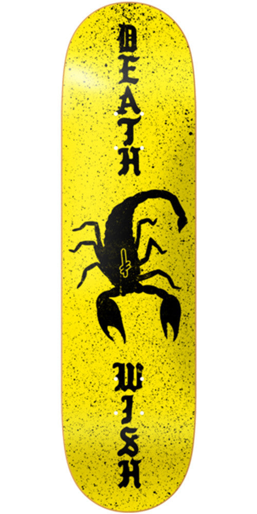 Deathwish Scorpion - 8.5in - Yellow - Skateboard Deck