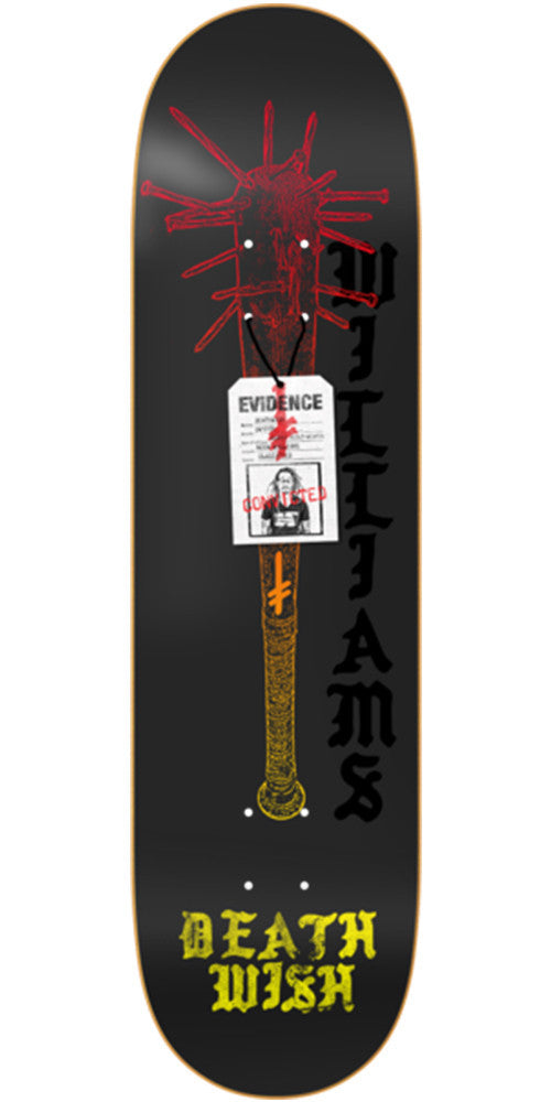 Deathwish Williams Deadly Intent - 8.25in - Black - Skateboard Deck