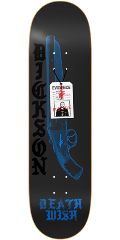 Deathwish Dickson Deadly Intent - 8.0in - Black - Skateboard Deck