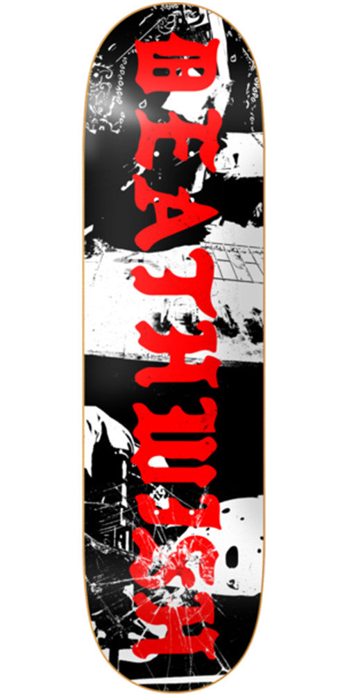 Deathwish Deadly Intent Team - 8.25in - Black/White - Skateboard Deck