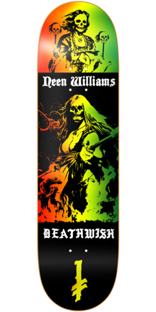 Deathwish Williams Colors of Death - 8.0in - Multi - Skateboard Deck