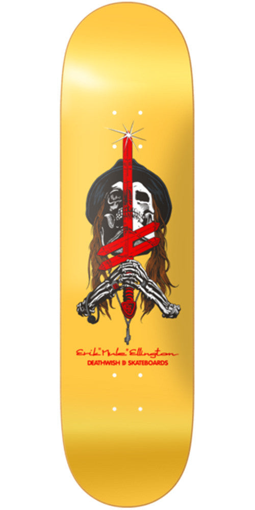Deathwish Ellington Sword & Mule - 8.0in - Yellow - Skateboard Deck