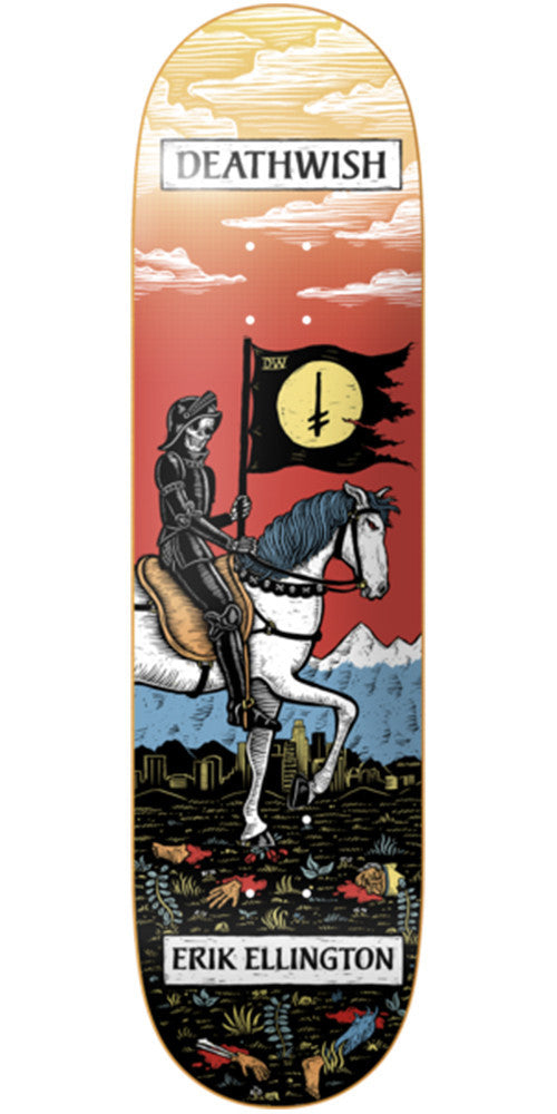 Deathwish Ellington Tarot Card - 7.875in - Multi - Skateboard Deck