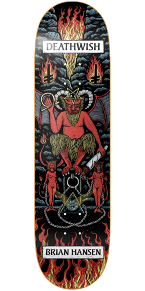 Deathwish Slash Tarot Card - 8.125in - Multi - Skateboard Deck