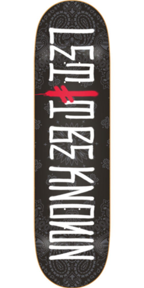 Deathwish Let It Be Known - 8.125in - Black - Skateboard Deck