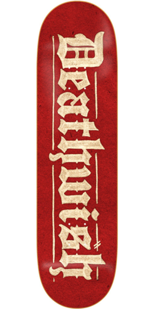 Deathwish Parchment - 8.0in - Red - Skateboard Deck