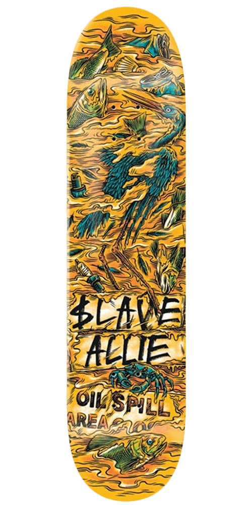 Slave Allie Wasted - Orange/Turquoise - 8.125in - Skateboard Deck