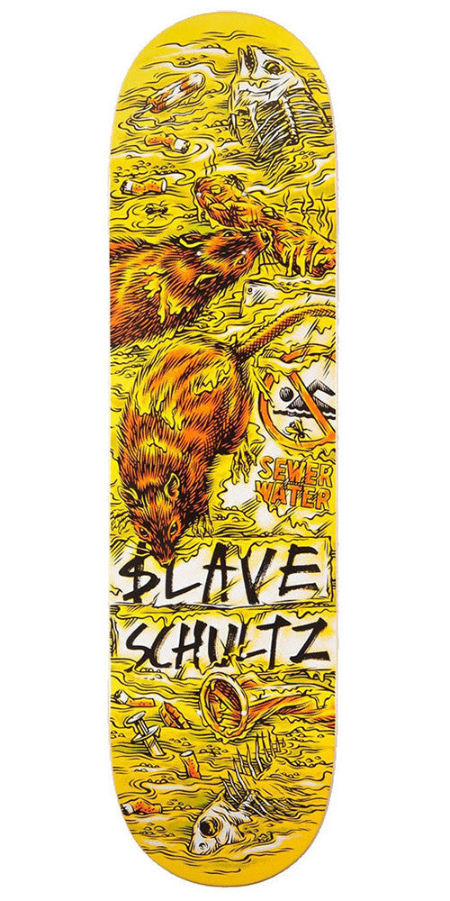 Slave Schultz Wasted - Yellow/Brown - 8.375in - Skateboard Deck