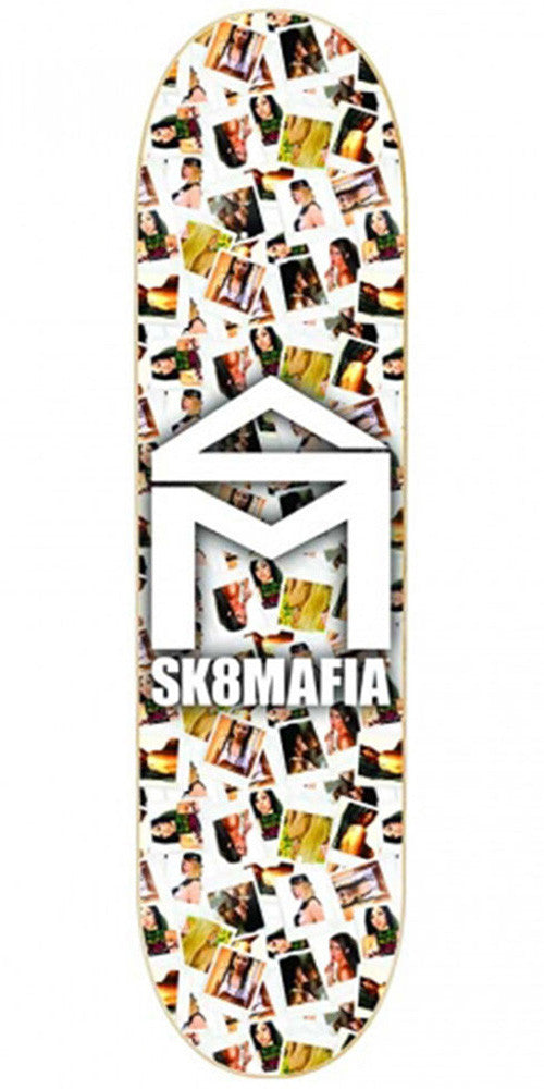 Sk8Mafia SM House Logo Girls - White - 7.8 x 31.75 - Skateboard Deck