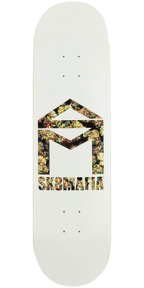 Sk8mafia House Logo Nug - White - 8.38in - Skateboard Deck