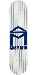 Sk8mafia House Logo Pinstripe - White - 8.0in - Skateboard Deck