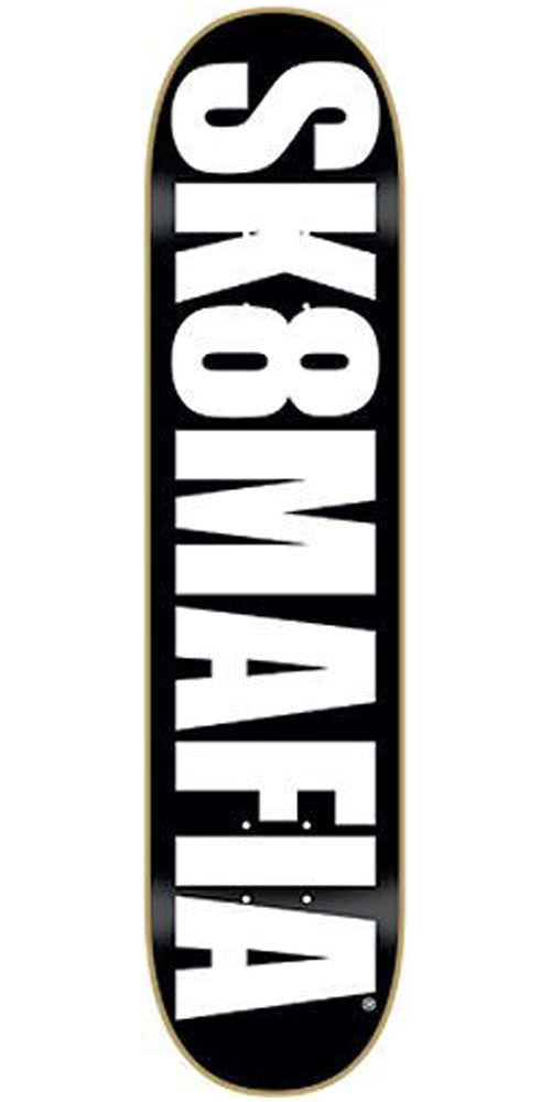 Sk8mafia OG Logo - Black/White - 8.0in - Skateboard Deck