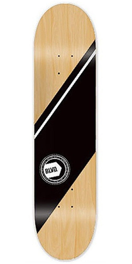 BLVD Team Authentic - White - 7.25 - Skateboard Deck
