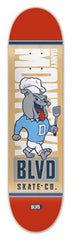 BLVD Montoya Mascot - Natural/Red - 8.0 - Skateboard Deck