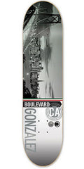 BLVD Gonzalez Cityscape - Grey/Multi - 8.0 - Skateboard Deck