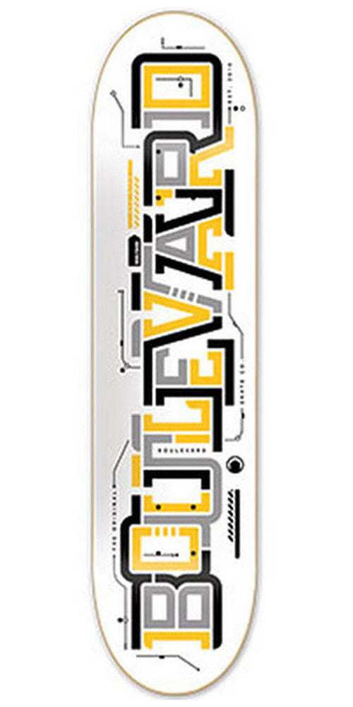 BLVD Team Transit - White - 8.0 - Skateboard Deck