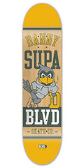 BLVD Supa Mascot - Natural/Yellow - 8.2 - Skateboard Deck