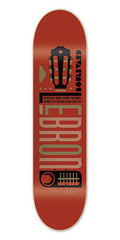 BLVD Art Deco Lebron - Red - 8.1 - Skateboard Deck