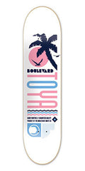 BLVD Art Deco Montoya - White - 8.25 - Skateboard Deck