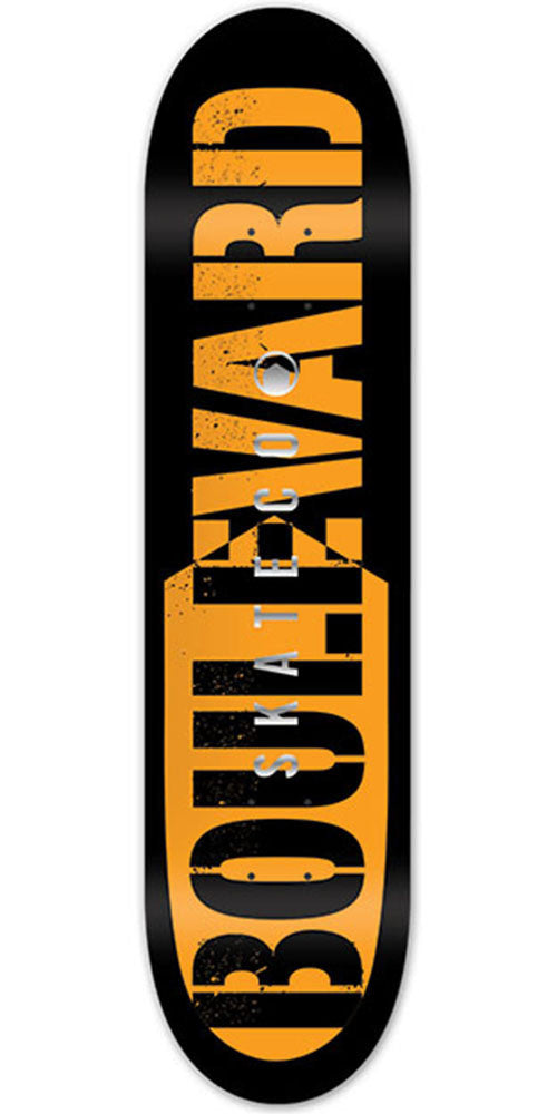 BLVD Bold Foil - Orange - 8.3in - Skateboard Deck