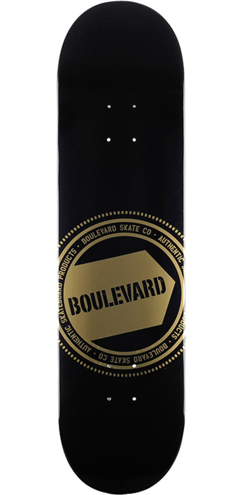 BLVD Gold Seal - Gold - 8.25in - Skateboard Deck