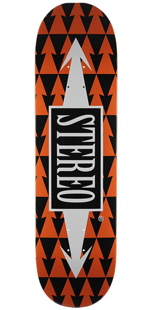 Stereo Arrow Pattern - Orange - 8.75in - Skateboard Deck