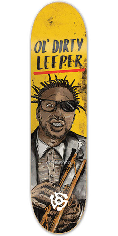 Stereo Leeper Ol' Dirty - Yellow - 8.3in - Skateboard Deck