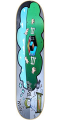Consolidated BB Cube - Grey/Green - 8.0 - Skateboard Deck