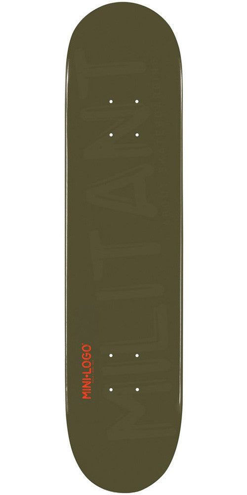 Mini Logo - Green Militant - 7.88 - Skateboard Deck