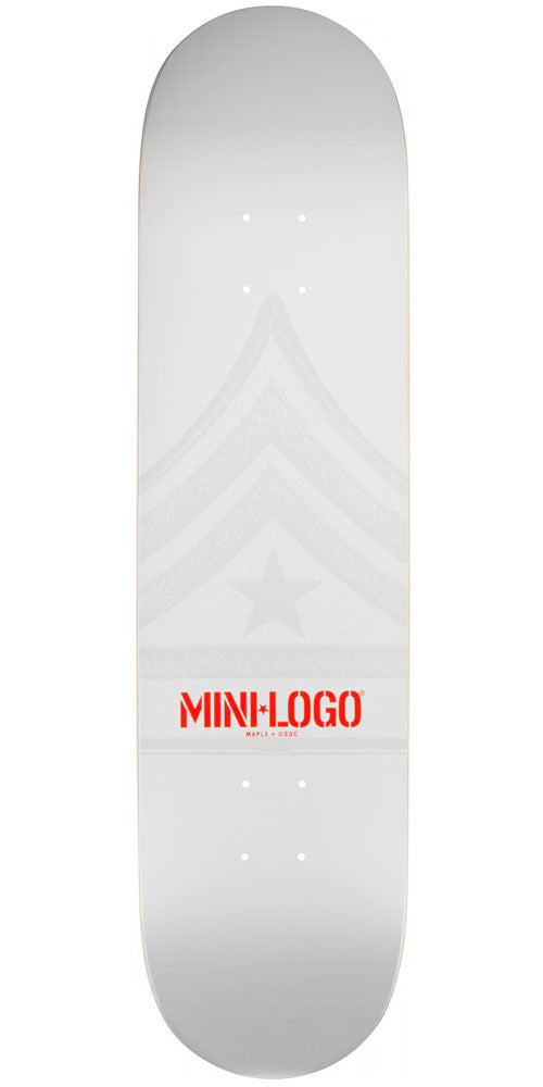 Mini Logo - White Quartermaster - 7.5 - Skateboard Deck