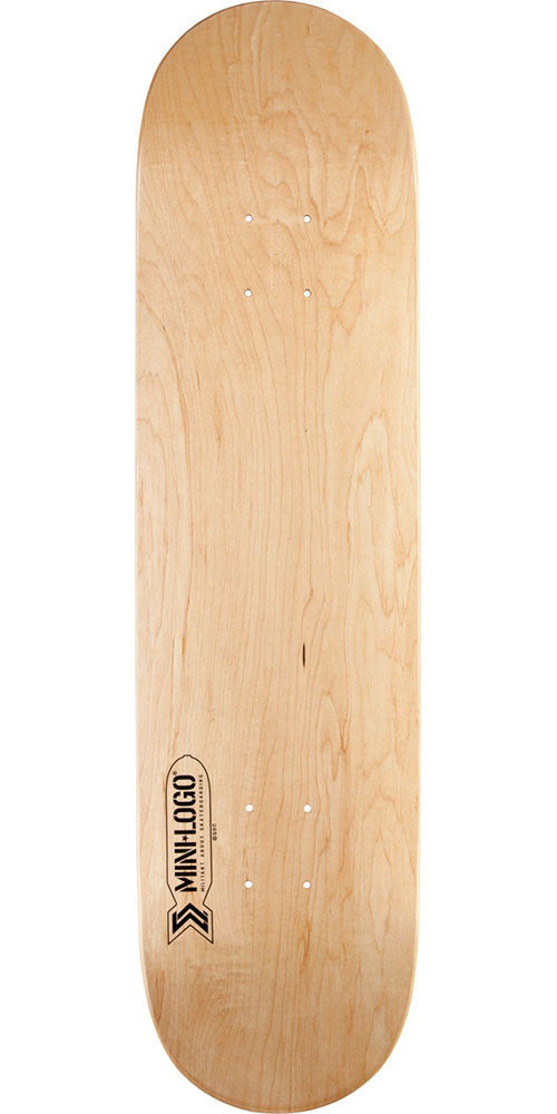 Mini Logo Small Bomb - Natural - 7.5in x 31.375in - Skateboard Deck
