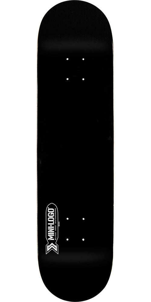 Mini Logo Small Bomb - Black - 7.5in x 31.375in - Skateboard Deck