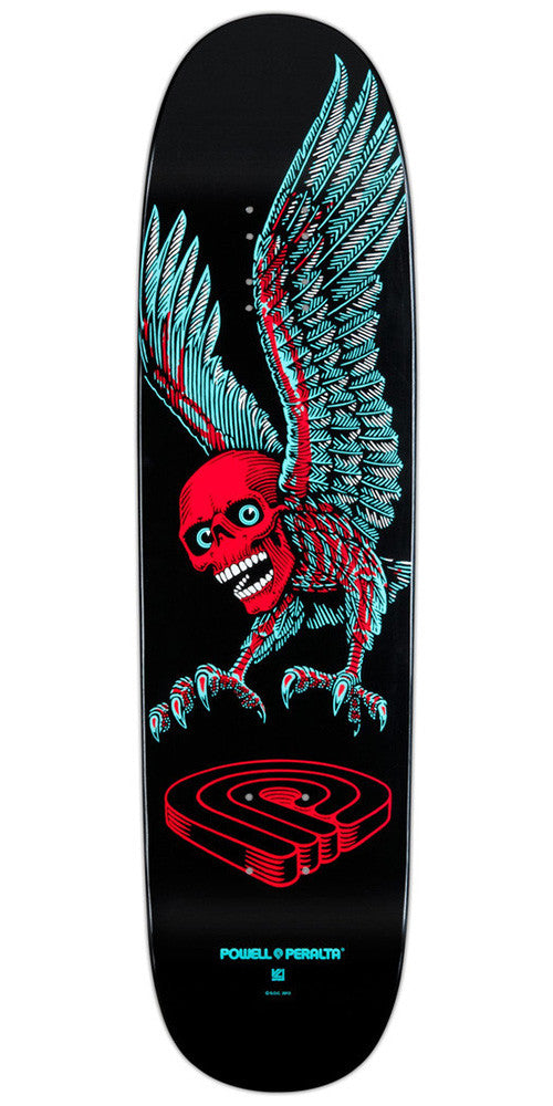 Powell Peralta Funshape Winged Skull - Black - 8.2 - Skateboard Deck