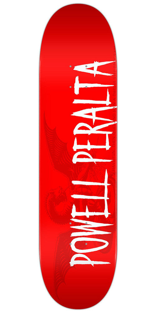 Powell Peralta Logo - Red - 8.0 - Skateboard Deck