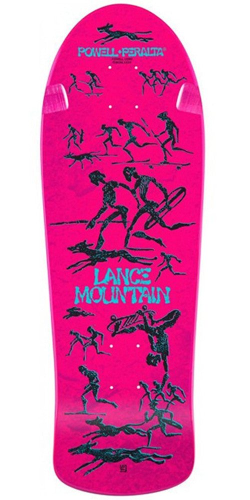 Powell Peralta Bones Brigade Reissue - Lance Mountain - Pink - 10in x 30.75in - Skateboard Deck