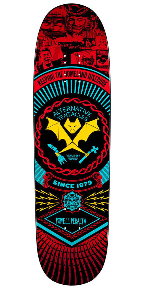 Powell Peralta Winston Smith 2 - Red - 8.7in x 31.72in - Skateboard Deck