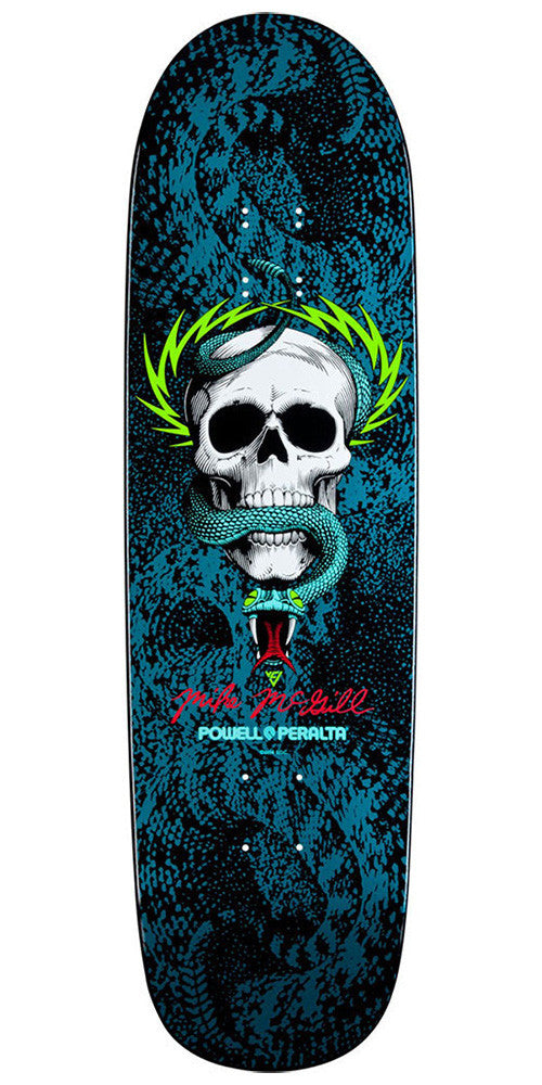 Powell Peralta Mike McGill Snake Skin - Blue/Black - 8.97in x 32.38in - Skateboard Deck