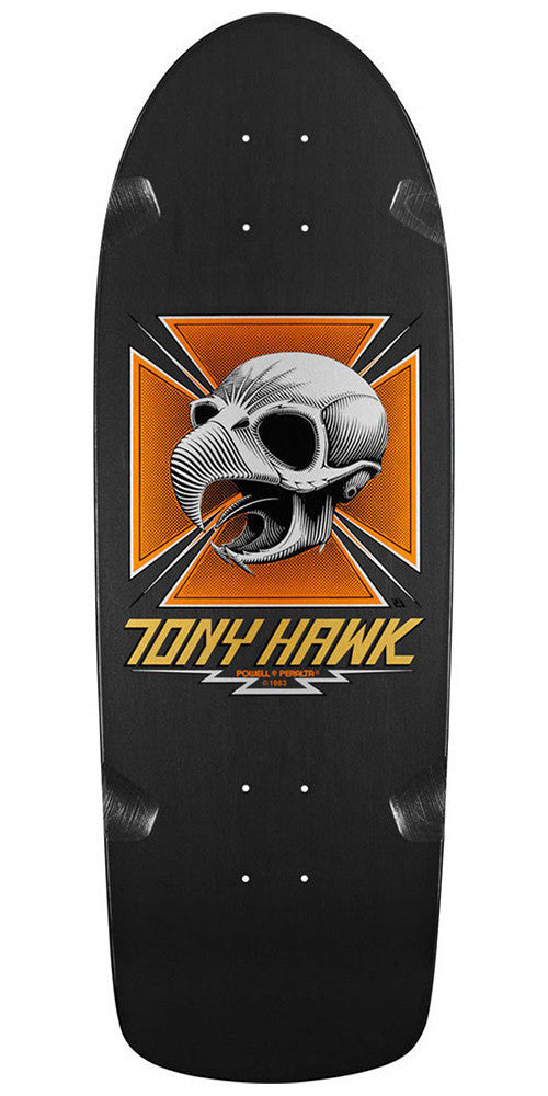 Powell Peralta Bones Brigade Tony Hawk Skull Reissue - Black - 10.0in x 30.05in - Skateboard Deck