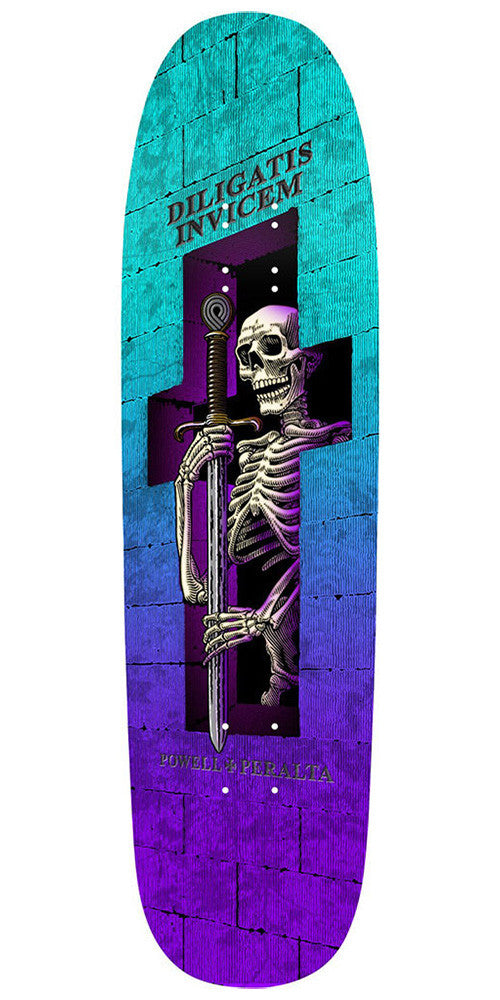 Powell Peralta Funshape Diligatis 2 - Purple/Blue/Turquoise - 8.7in x 31.72in - Skateboard Deck