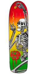 Powell Peralta Funshape Hippie Skeleton 2 - Rasta - 8.6in x 31.66in - Skateboard Deck