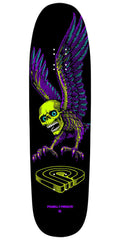 Powell Peralta Funshape Winged Skull 2 - Lime/Purple - 8.75in x 31.75in - Skateboard Deck