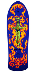 Powell Peralta Bones Brigade Tommy Guerrero Flaming Dagger - Purple - 9.75in x 30.4in - Skateboard Deck